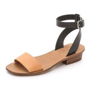 Madewell Black and Brown Leather Sandals 7